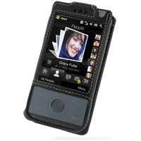 Leather Sleeve Case for HTC Touch Diamond/HTC P3700 (Black)