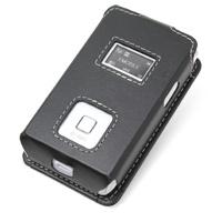 Leather Sleeve Case for Huawei eMobile PocketWifi GL02P (Black)