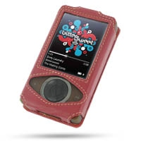 Microsoft Zune Leather Sleeve Case (Red) PDair Premium Hadmade Genuine Leather Protective Case Sleeve Wallet