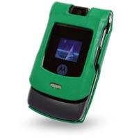Motorola RAZR V3i Leather Sleeve Case (Green) PDair Premium Hadmade Genuine Leather Protective Case Sleeve Wallet