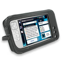 Leather Sleeve Case for Nokia N800 Internet Tablet (Black)