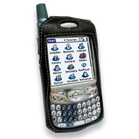 Leather Sleeve Case for Palm Treo 650 (Black)