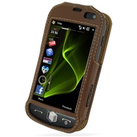 Leather Sleeve Case for Samsung i8000 Omnia II (Brown)