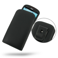 Leather Vertical Pouch Belt Clip Case for Acer Liquid E1 Duo V360