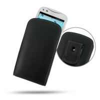Acer Liquid E2 Duo Pouch Case with Belt Clip PDair Premium Hadmade Genuine Leather Protective Case Sleeve Wallet