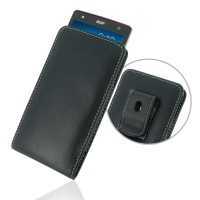 Acer Liquid E3 Pouch Case with Belt Clip PDair Premium Hadmade Genuine Leather Protective Case Sleeve Wallet