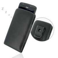 Acer Liquid E700 Pouch Case with Belt Clip PDair Premium Hadmade Genuine Leather Protective Case Sleeve Wallet