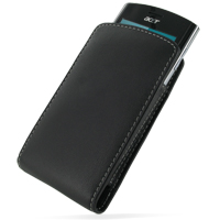 Acer Liquid Metal S120 Pouch Case with Belt Clip PDair Premium Hadmade Genuine Leather Protective Case Sleeve Wallet