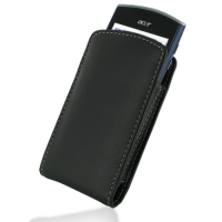 Leather Vertical Pouch Belt Clip Case for Acer Liquid mini E310 (Black)