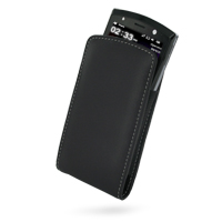 Leather Vertical Pouch Belt Clip Case for Acer Neo Touch S200 (Acer F1) (Black)