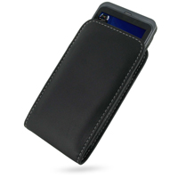 Leather Vertical Pouch Belt Clip Case for Acer Stream/Liquid S110 (Black)