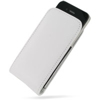 Leather Vertical Pouch Belt Clip Case for Apple iPhone 4 | iPhone 4s (White)