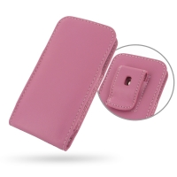 Leather Vertical Pouch Belt Clip Case for Apple iPhone 5 | iPhone 5s (Petal Pink)