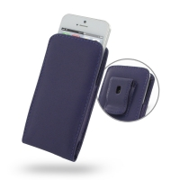 Leather Vertical Pouch Belt Clip Case for Apple iPhone 5 | iPhone 5s (Purple)