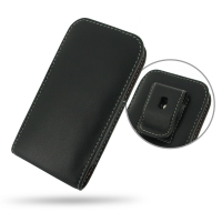Leather Vertical Pouch Belt Clip Case for Apple iPhone 5c ( Compatible with 1.0 mm Slim Case / Cover on )