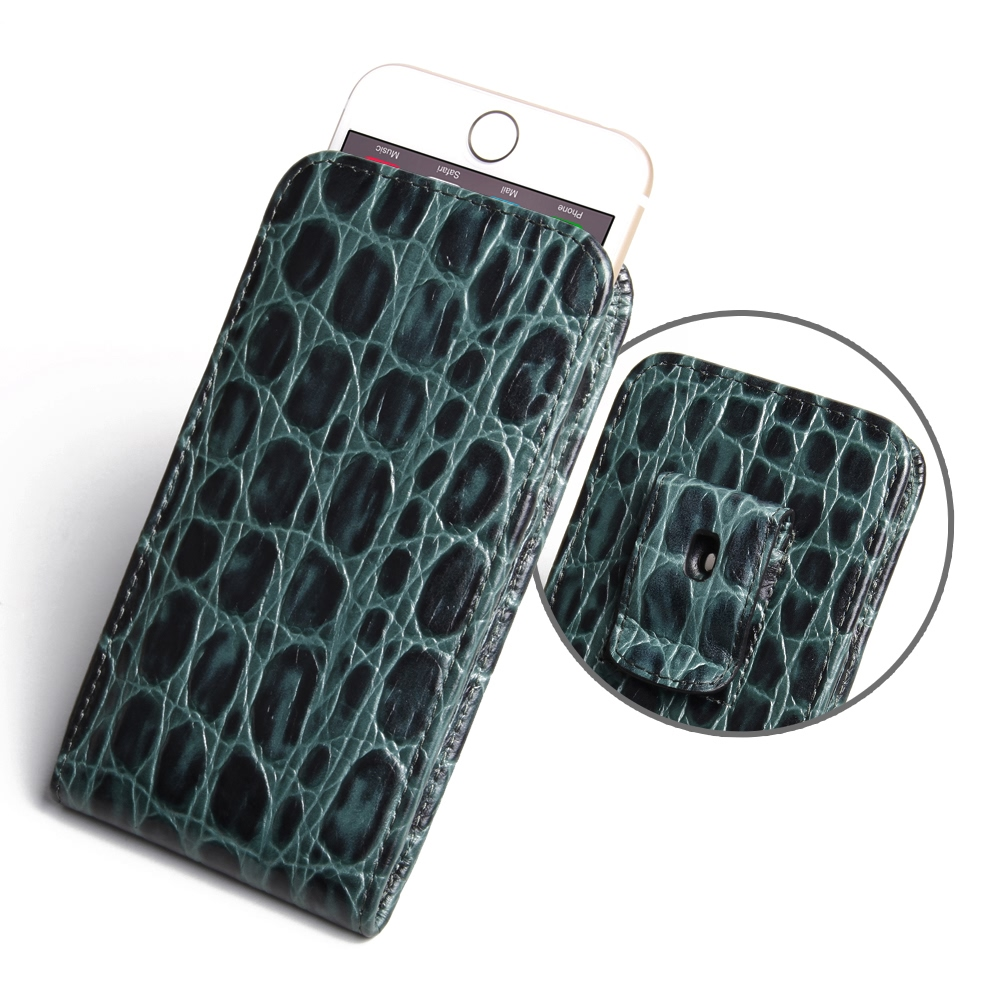 10% OFF + FREE SHIPPING, Buy PDair Quality Handmade Protective iPhone 6 | iPhone 6s Pouch Case with Belt Clip (Green Croc Pattern). You also can go to the customizer to create your own stylish leather case if looking for additional colors, patterns and ty