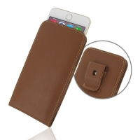 Leather Vertical Pouch Belt Clip Case for Apple iPhone 6 Plus | iPhone 6s Plus (Brown)