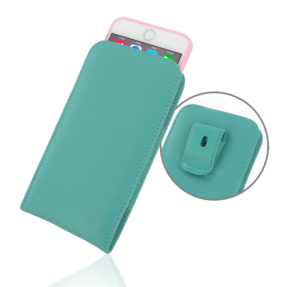 10% OFF + FREE SHIPPING, Buy PDair Quality Handmade Protective iPhone 6 Plus | iPhone 6s Plus (in Slim Cover) Pouch Clip Case (Aqua) online. You also can go to the customizer to create your own stylish leather case if looking for additional colors, patter