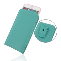 Leather Vertical Pouch Belt Clip Case for Apple iPhone 6 Plus | iPhone 6s Plus ( Compatible with 1.0 mm Slim Case / Cover on ) (Aqua)