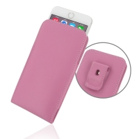 Leather Vertical Pouch Belt Clip Case for Apple iPhone 6 Plus | iPhone 6s Plus (Petal Pink)