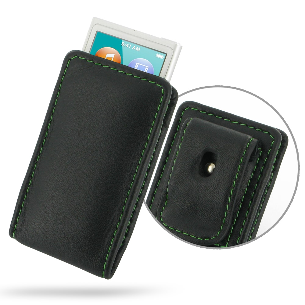 10% OFF + FREE SHIPPING, Buy PDair Quality Handmade Protective iPod nano 8th / nano 7th Pouch Case with Belt Clip (Green Stitch) online. You also can go to the customizer to create your own stylish leather case if looking for additional colors, patterns a