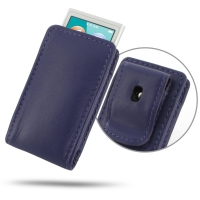 Leather Vertical Pouch Belt Clip Case for Apple iPod nano 8th / iPod nano 7th Generation (Purple)