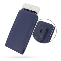 Leather Vertical Pouch Belt Clip Case for Apple iPod touch 7th / iPod touch 6th / iPod touch 5th Generation (Purple)