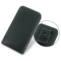 Leather Vertical Pouch Belt Clip Case for Asus PadFone mini 4.3
