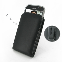 Leather Vertical Pouch Belt Clip Case for BlackBerry Classic ( Compatible with 1.0 mm Slim Case / Cover on )