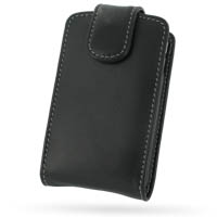 Leather Vertical Pouch Belt Clip Case for BlackBerry Curve 8300 (Black)