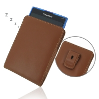 Leather Vertical Pouch Belt Clip Case for BlackBerry Passport (in Slim Case/Cover) (Brown)