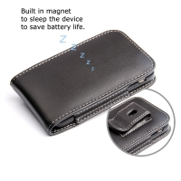 BlackBerry Q5 Pouch Case with Belt Clip PDair Premium Hadmade Genuine Leather Protective Case Sleeve Wallet