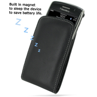 Leather Vertical Pouch Belt Clip Case for BlackBerry Storm 9500 9530 (Black)