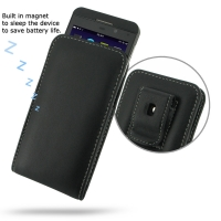 BlackBerry Z10 Pouch Case with Belt Clip PDair Premium Hadmade Genuine Leather Protective Case Sleeve Wallet