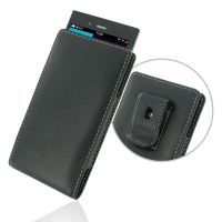 Leather Vertical Pouch Belt Clip Case for BlackBerry Z3