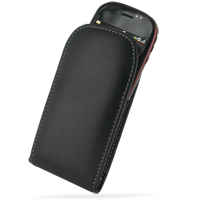 Leather Vertical Pouch Belt Clip Case for Dell Mini3i (Black)