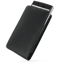 Leather Vertical Pouch Belt Clip Case for Dell Venue (Black)