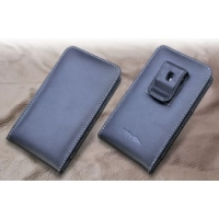 Fujitsu ARROWS NX F-02G Pouch Case with Belt Clip PDair Premium Hadmade Genuine Leather Protective Case Sleeve Wallet