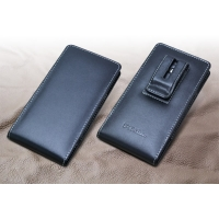 Fujitsu ARROWS NX F-04G Pouch Case with Belt Clip PDair Premium Hadmade Genuine Leather Protective Case Sleeve Wallet