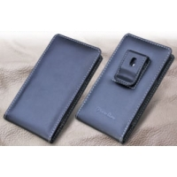 Fujitsu ARROWS NX F-05F Pouch Case with Belt Clip PDair Premium Hadmade Genuine Leather Protective Case Sleeve Wallet