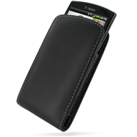 Garmin nuvifone A50 Pouch Case with Belt Clip PDair Premium Hadmade Genuine Leather Protective Case Sleeve Wallet