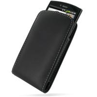 Leather Vertical Pouch Belt Clip Case for Garmin-Asus nuvifone A50/T-Mobile Garminfone A50