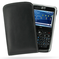 Leather Vertical Pouch Belt Clip Case for HP iPAQ 900 Series (Black)