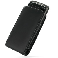 Leather Vertical Pouch Belt Clip Case for HTC 7 Surround T8788 (Black)