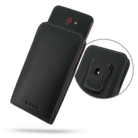 HTC Butterfly Pouch Case with Belt Clip PDair Premium Hadmade Genuine Leather Protective Case Sleeve Wallet