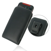 Leather Vertical Pouch Belt Clip Case for HTC Desire 310