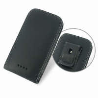 HTC Desire 500 Pouch Case with Belt Clip PDair Premium Hadmade Genuine Leather Protective Case Sleeve Wallet