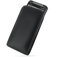 Leather Vertical Pouch Belt Clip Case for HTC EVO Shift 4G (Black)