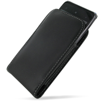 Leather Vertical Pouch Belt Clip Case for HTC HD7 T9292 (Black)