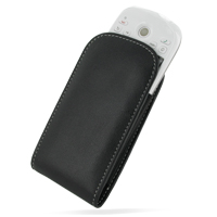 Leather Vertical Pouch Belt Clip Case for HTC Magic Android G2 (Black)